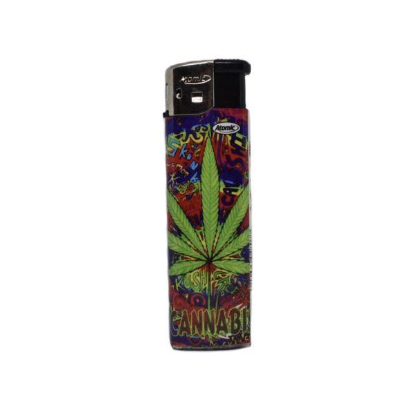 zapalniczka liść ganji cannabis zarowa 2