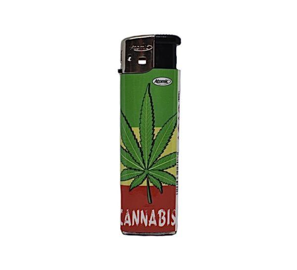 zapalniczka liść ganji cannabis zarowa rasta 1