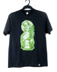 koszulka t shirt matka boska zielna wolne konopie marihuana