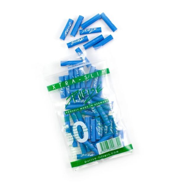 purize xtra slim size 50 blue niebieskie filterki węgiel aktywny 50szt