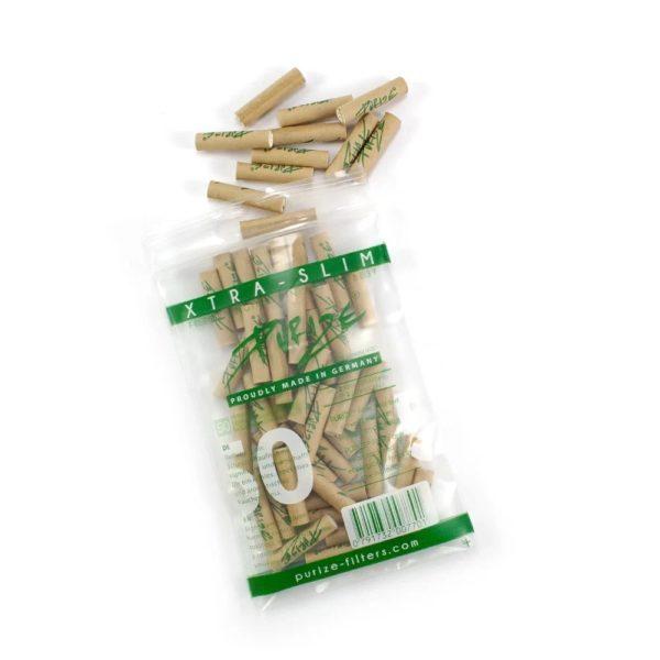 xtra slim size 50 brazowe organiczne filterki węgiel aktywny 50szt