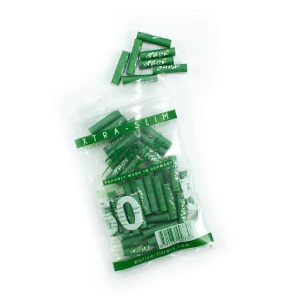 xtra slim size 50 zielone filterki węgiel aktywny 50szt