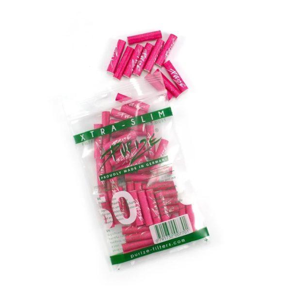 xtra slim size 50 różowe filterki węgiel aktywny 50szt